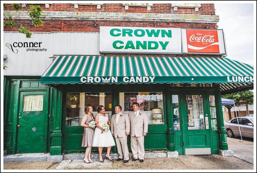 Crown Candy Kitchen & Piper Palm House St Louis Wedding Photographers