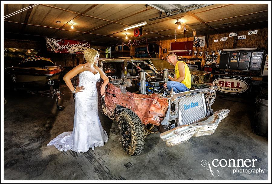 Demolition Derby & Hidden Lake Winery Wedding Bridal Photos (14)