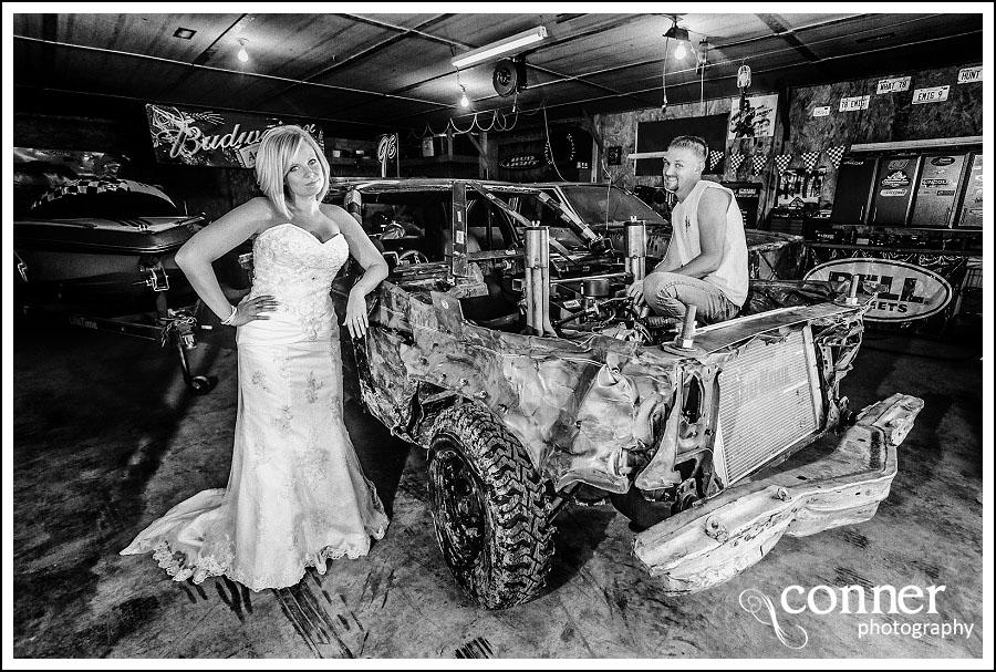 Demolition Derby & Hidden Lake Winery Wedding Bridal Photos (12)