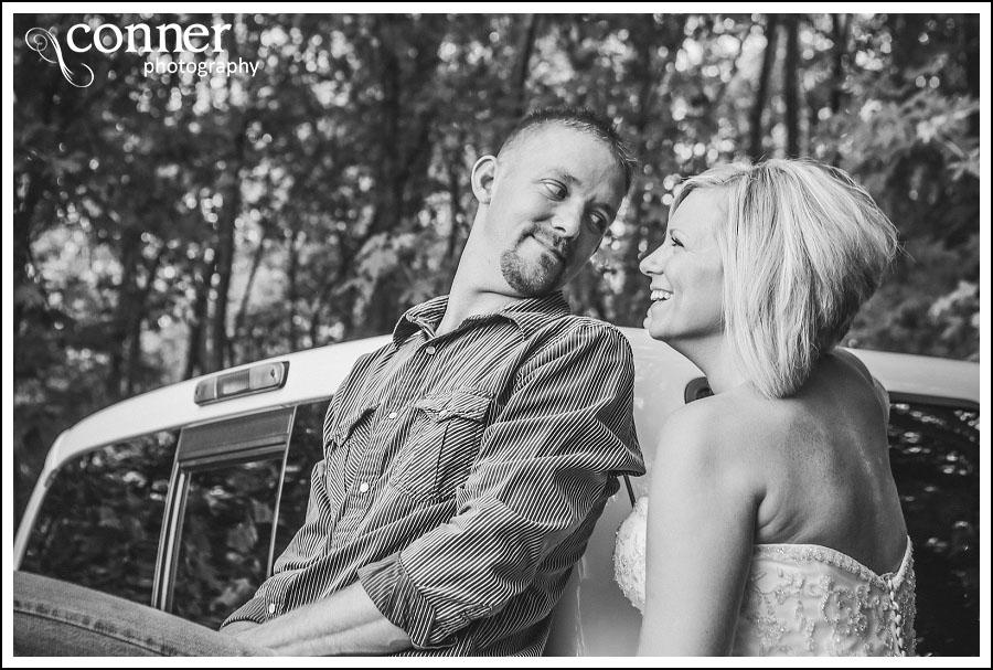 Demolition Derby & Hidden Lake Winery Wedding Bridal Photos (8)