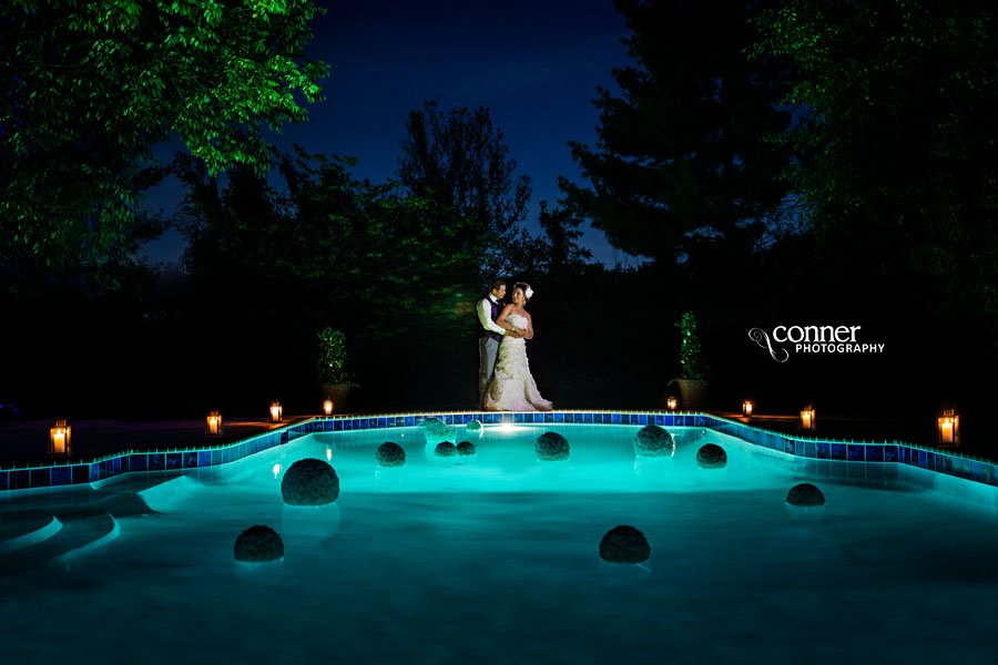Saint Louis Wedding Photo Night Epic Pool