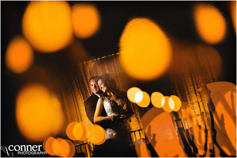cool bride groom night bokeh photo