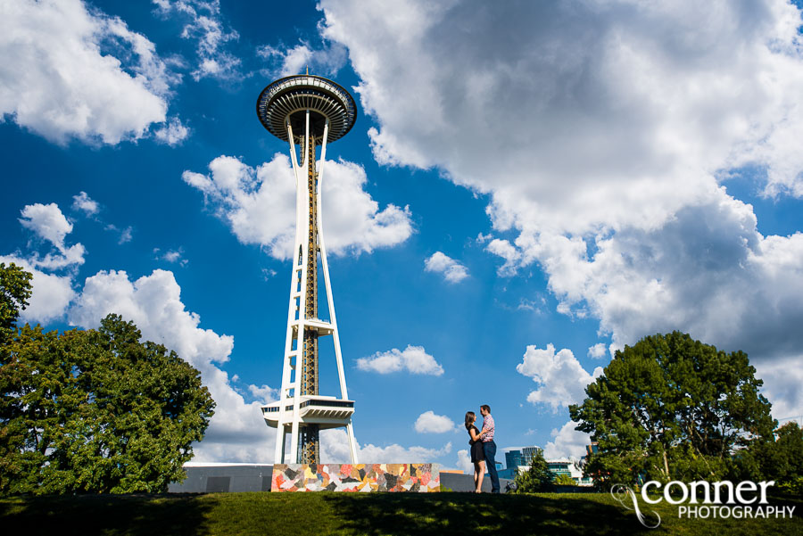 seattle space needle engagement photos