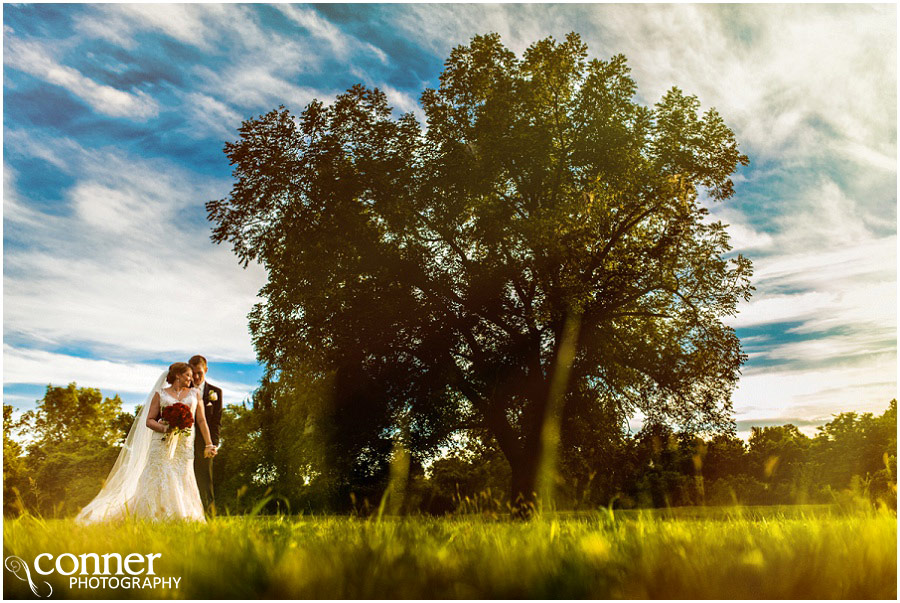 belvoir winery wedding sunset